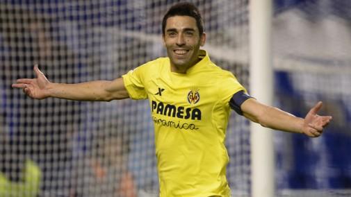 Bruno Soriano celebra el gol de la victoria con un penalti transformado en el 95'
