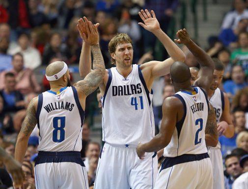 Dirk, alma y líder de estos irregulares Mavs | Getty Images