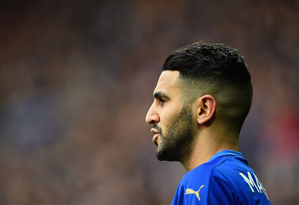 LEICESTER, ENGLAND - FEBRUARY 27: Riyad Mahrez of Leicester City looks on during the Barclays Premier League match between Leicester City and Norwich City at The King Power Stadium on February 27, 2016 in Leicester, England. (Photo by Laurence Griffiths/Getty Images)