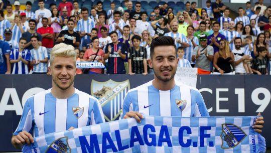 Keko y Jony, primeros fichajes del Málaga | Foto vía Málaga CF