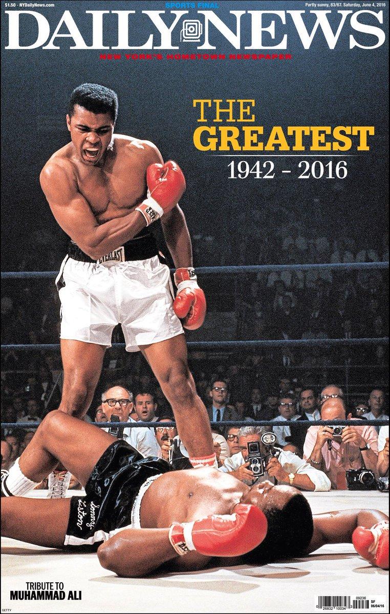 Preciosa portada del Daily News con una de sus imágenes más icónicas
