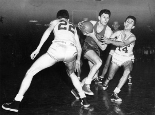Ed Macauley, Bob Cousy and Max Zaslofsky | Getty Images