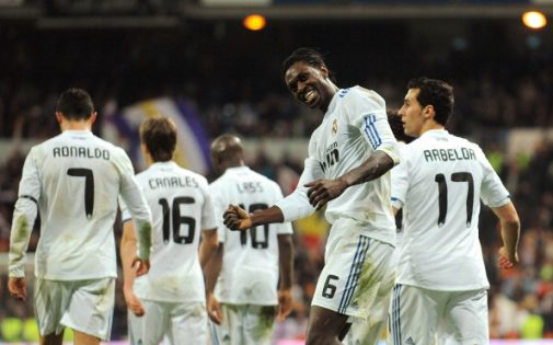 En 2011 fichó Adebayor por el Real Madrid para lucir el '6' en Liga   Getty Images