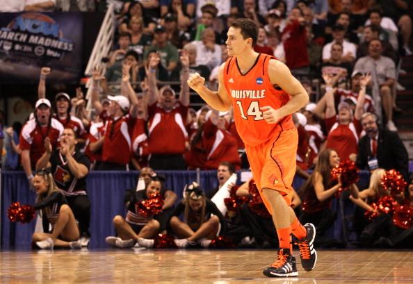 Kyle Kuric en su etapa universitaria en Louisville   Getty