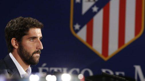 Raúl García el día de su despedida | Foto: www.clubatleticodemadrid.com