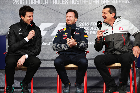 Toto Wolff, Christian Horner y Guenther Steiner | Getty Images