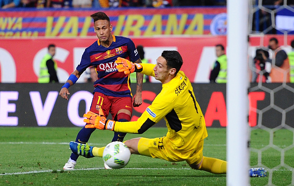 Neymar Jr. en la final de Copa del Rey | Getty Images