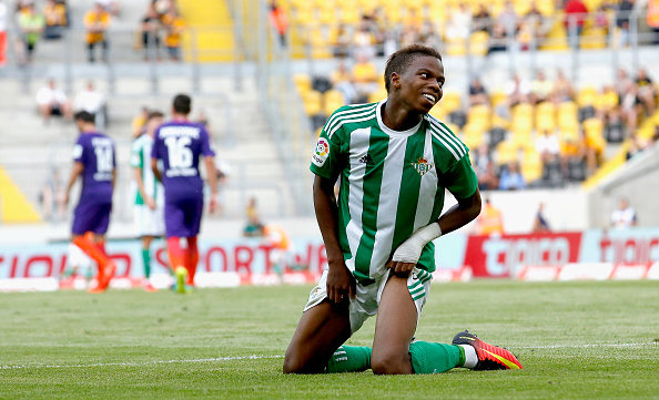 DRESDEN, GERMANY - JULY 29: Charly Musonda of Real Betis reacts during the Bundeswehr Karriere Cup Dresden 2016 match between Werder Bremen and Real Betis at DDV-Stadion on July 29, 2016 in Dresden, Germany. (Photo by Boris Streubel/Bongarts/Getty Images)