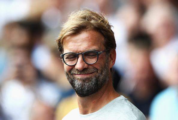 LONDON, ENGLAND - AUGUST 27:  Jurgen Klopp, Manager of Liverpool during the Premier League match between Tottenham Hotspur and Liverpool at White Hart Lane on August 27, 2016 in London, England.  (Photo by Julian Finney/Getty Images)