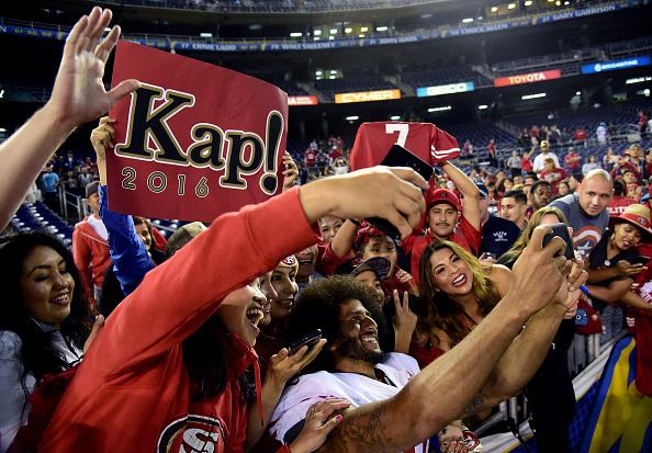 Kaepernick durante la preseason | Getty Images