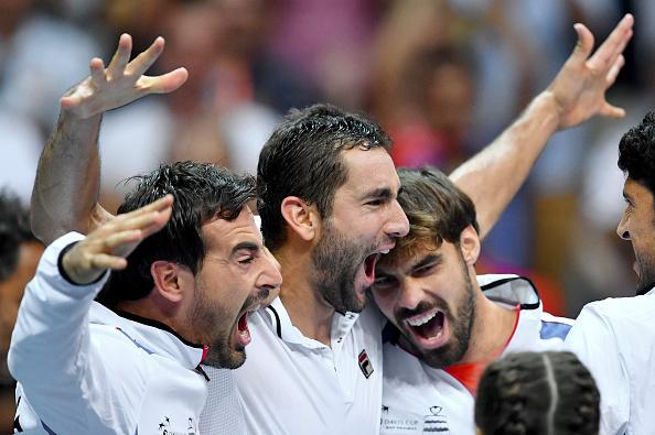 Croacia celebra el pase a la final de la Copa Davis 2016   Getty Images