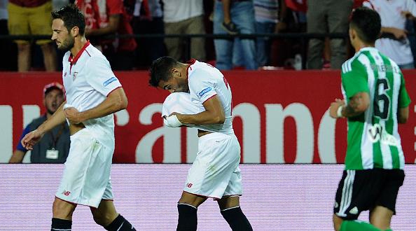 Gabriel Mercado celebra el gol del pasado derbi   Getty Images