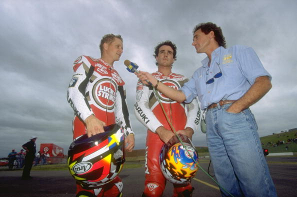 Barry Sheene, Kevin Schwantz and Daryl Beattie