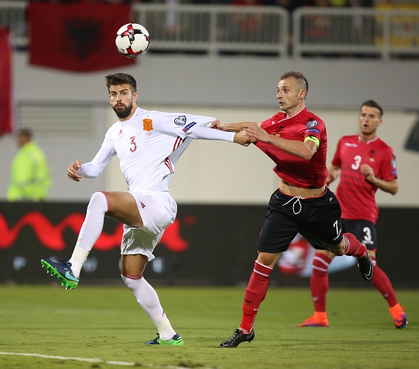 Gerard Piqué en el Albania - España | Getty