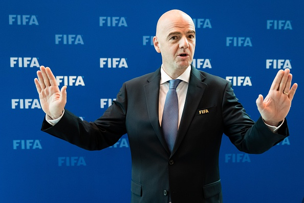 ZURICH, SWITZERLAND - OCTOBER 14: FIFA President Gianni Infantino poses for a photo after part II of the FIFA Council Meeting 2016 at the FIFA headquarters on October 14, 2016 in Zurich, Switzerland. (Photo by Philipp Schmidli/Getty Images)