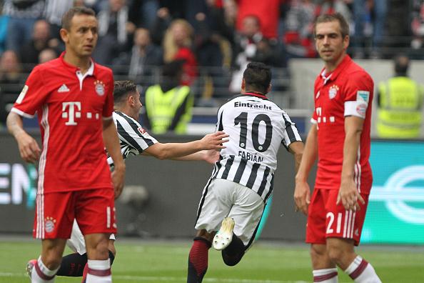 Marco Fabián, verdugo del Bayern en la tarde de hoy   Getty