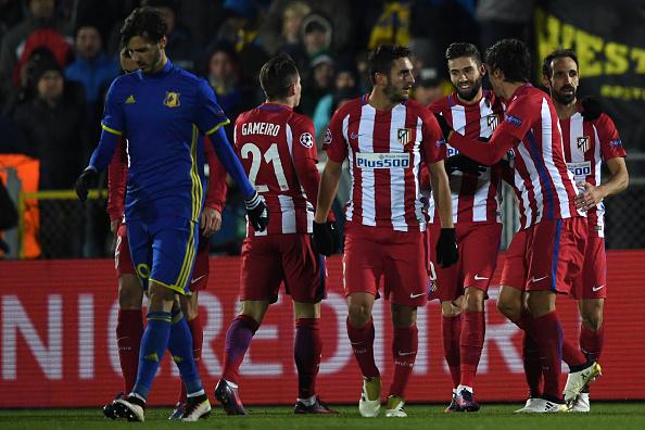 El Atlético celebra el tanto conseguido por Carrasco | Getty