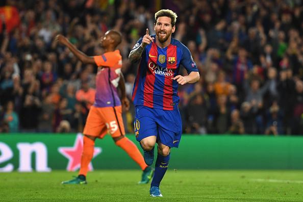 Así celebró Messi su tercer tanto | Getty