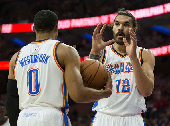 Westbrook y Adams | Getty