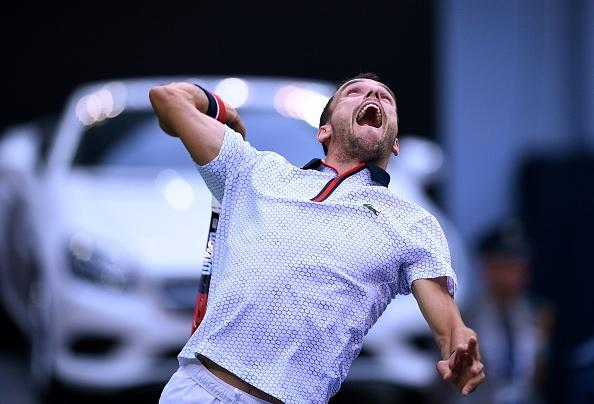 Roberto en la final del Masters de China ante Andy Murray   Getty