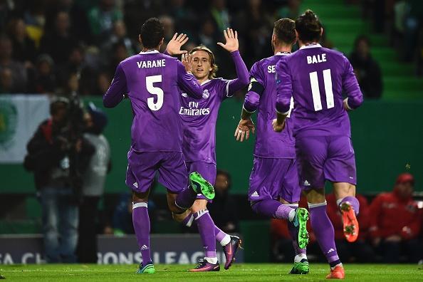 Varane celebra su gol en la noche de hoy | Getty