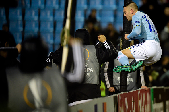 Aspas, gol y expulsión | Getty