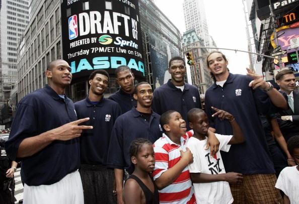 El magnífico draft de 2007 con Horford, Noah y Brewer de Florida, y Conley y Oden de Ohio St junto a Durant, de Texas   Getty