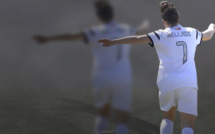 Alba Mellado celebrando un gol