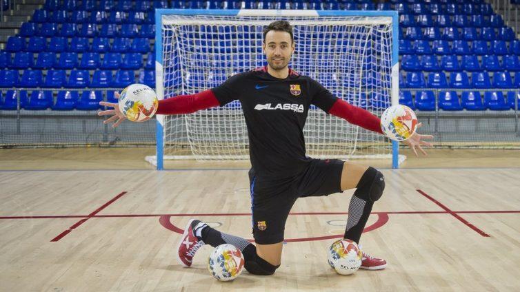 Paco Sedano, portero del FC Barcelona Lassa | Foto: Víctor Salgado FCB