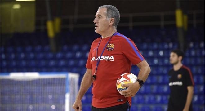 Andreu Plaza, técnico del FC Barcelona Lassa [Foto: Víctor Salgado | FCB]